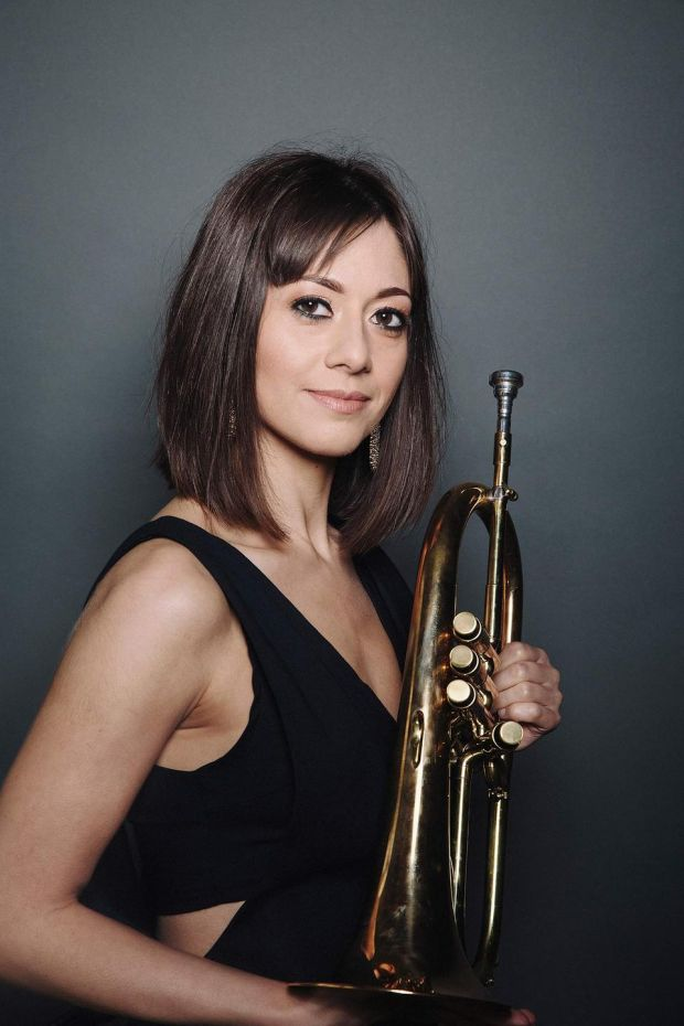 British-Bahraini trumpet and flugelhorn player Yazz Ahmed is the special guest with the National Youth Jazz Orchestra of Scotland at the Hawk's Well Theatre, Sligo on Wednesday 24th July
