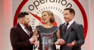Leader Wayne O'Donnell, Presenter Kathryn Thomas, Leader David Cryan,  all of Operation Transformation.