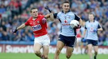 Dublin's James McCarthy with John O'Rourke of Cork during  their championship quarter-final in August 2013.  It ended in a 1-16 to 0-14 win for Dublin. Photograph: Morgan Treacy/Inpho