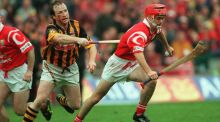 Cork's Sean McGrath and Willie O'Connor of Kilkenny. Photograph: Patrick Bolger/Inpho
