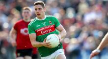 Mayo's Lee Keegan: the team needs his ankle to hold up. Photograph: Ryan Byrne/Inpho