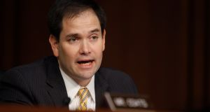 US senators Marco Rubio, above, and  Charles Grassley, in a letter to the US department of health and human sciences last month, said the FBI 'has identified national security risks related to sharing genomic data and recognises China as a primary source of those risks'. Photograph: Jason Reed/Reuters