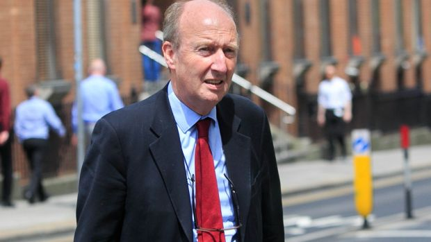 Minister for Transport, Tourism and Sport Shane Ross: happy birthday! Photograph: Gareth Chaney Collins