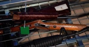 Dozens of New Zealanders handed in their firearms  as a gun buyback scheme went into operation aimed at ridding the country of semi-automatic weapons in the wake of the Christchurch mosque attacks. Photograph:Dave Lintott/AFP