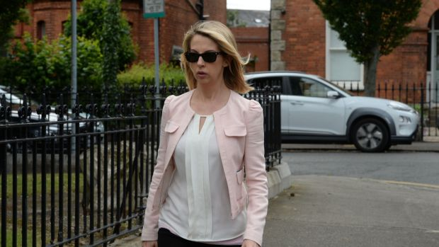 RTÉ news presenter Caitriona Perry at the funeral of Noel Whelan. Photograph: Alan Betson/The Irish Times