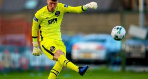 Matthew Connor saved a penalty against Waterford on Saturday night. Photograph: Tommy Dickson/Inpho
