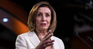 House speaker Nancy Pelosi, above, told her party members to refrain from targeting each other on Twitter, and criticised any attacks on moderate Democrats, many of whom are facing re-election battles. Photograph: Erik S Lesser