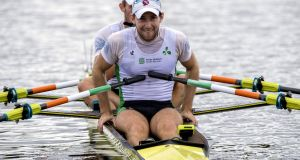 Paul O'Donovan picked up a silver medal in Rotterdam. Photograph: Craig Watson/Inpho