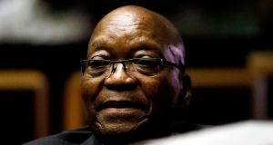Former South African president Jacob Zuma has accused the inquiry of being 'prejudiced' against him. File photograph: EPA