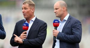 The presence of former England captain Andrew Strauss and Aussie great Shane Warne lit the touch paper for Sky Sports coverage of the Cricket World Cup. Photograph: Lee Smith/Action Images via Reuters