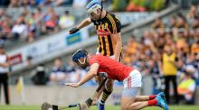 Kilkenny's TJ Reid battles with Stephen McDonnell of Cork during their All-Ireland SHC quarter-final at Croke Park. Photo: Gary Carr/Inpho