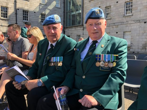 Paddy Hackett (left) and Pat McGarry, both from Tipperary who did United Nations peacekeeping missions with the Irish Defence Forces serving in Lebanon and Cyprus. Photograph: Simon Carswell