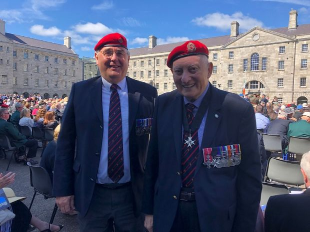 Captain Graham Chipperfield & Lieutenant Colonel Leonard Murray, British Army veterans from Northern Ireland who served in the North with the Royal Military Police. Photograph: Simon Carswell