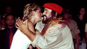 Luciano Pavarotti with Princess Diana
