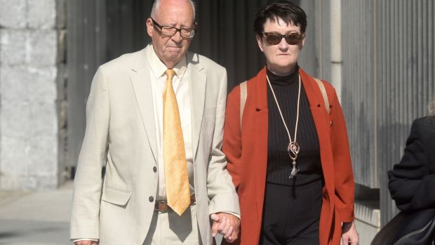 Patric and Geraldine Kriegel, the parents of murdered Ana Kriegel, arrive at the Criminal Courts of Justice in Dublin on Monday. Photograph: PA