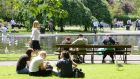 Lunchtime sunshine in St Stephen's Green, Dublin last week. Photograph: Dave Meehan/The Irish Times