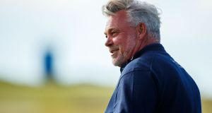 Darren Clarke will get the British Open underway on Thursday at Portrush. Photograph: Oisin Keniry/Inpho