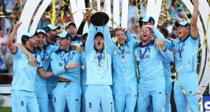 A peak audience of 4.5 million watched England's World Cup final win over New Zealand. Photograph: Michael Steele/Getty
