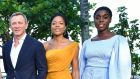Daniel Craig, Naomie Harris and Lashana Lynch at the Bond 25 film launch in Jamaica. Photograph: Slaven Vlasic/Getty Images for Metro Goldwyn Mayer Pictures