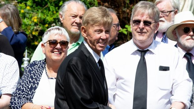 Dickie Rock attending the funeral. Photograph: Tom Honan/The Irish Times.