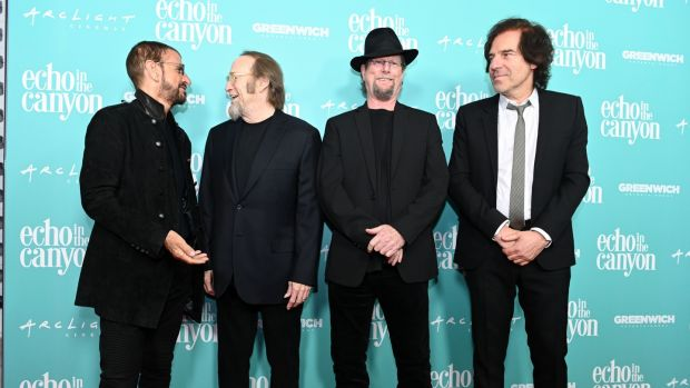 Ringo Starr, Stephen Stills, Roger McGuinn and Andrew Slater attend the premiere of Echo in the Canyon at ArcLight Cinerama Dome on May 23rd, 2019 in Hollywood, California. Photograph: Scott Dudelson/Getty Images