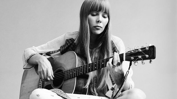 She's not there: Joni Mitchell in 1968. The Canadian singer is one of several influential female artists associated with Laurel Canyon, including Carole King, Emmylou Harris, Rita Coolidge and Linda Ronstadt, who are not featured in the documentary. Photograph: Jack Robinson/Getty Images