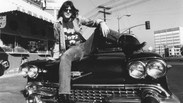 "Gram Parsons: The Byrds spawned The Flying Burrito Brothers, Chris Hillman and Parsons pioneering the ""cosmic country"" sound that would influence The Eagles. Photograph: Ginny Winn/Michael Ochs Archives/Getty Images"