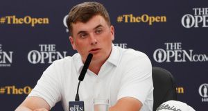 James Sugrue faces a battle to be fit for Thursday's opening round of the British Open after suffering an insect bite. Photograph: Paul Childs/Reuters