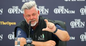 "Darren Clarke: ""You think about that time, when everything that was going on, whether we were ever going to have a tournament such as this? It was beyond the realms of possibility."" Photograph:  Francois Nel/Getty Images"