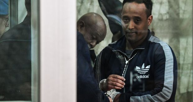 Medhanie Tesfamariam Berhe during his trial in Sicily: now held in a deportation centre. Photograph: Andreas Solaro/AFP