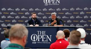 Ireland's Darren Clarke during a press conference at Portrush. Photograph: Paul Childs/Reuters