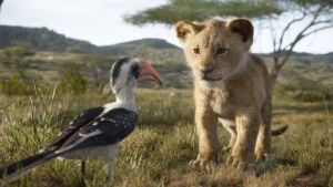 The Lion King, featuring the voices of James Earl Jones as Mufasa, and JD McCrary as Young Simba