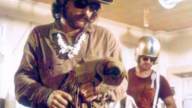 Dennis Hopper and Jack Nicholson in a scene from the 1969 film Easy Rider