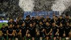New Zealand after winning the Rugby Championship last year. Photograph: Getty Images
