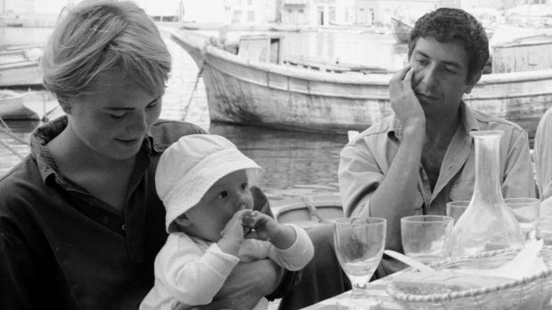 Marianne Ihlen and Leonard Cohen on the Greek island of Hydra, with Ihlen's son Axel Jr. Photograph: James Burke/The Life Picture Collection/Getty Images