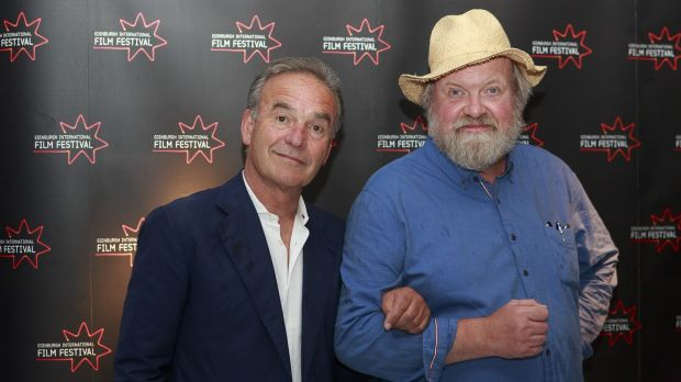 Director Nick Broomfield and executive producer Jan Christian Mollestad attend a photocall for the Scottish premiere of Marianne & Leonard: Words of Love during the Edinburgh International Film Festival in June. Photograph: Roberto Ricciuti/Getty Images