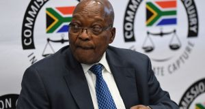 Former South African president Jacob Zuma: whistleblowers allege he allowed Gupta brothers Ajay, Atul and Rajesh to hand-pick ruling party members who would do their bidding for cabinet posts. Photograph: Reuters