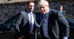 "Conservative leadership candidate Boris Johnson  at  Westminster. ""No to time limits or unilateral escape hatches or all these elaborate devices, glosses, codicils and so on that you could apply to the backstop."" Photograph: Getty Images"