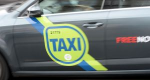 A taxi at a rank in Dublin city centre. Photograph: Alan Betson/The Irish Times