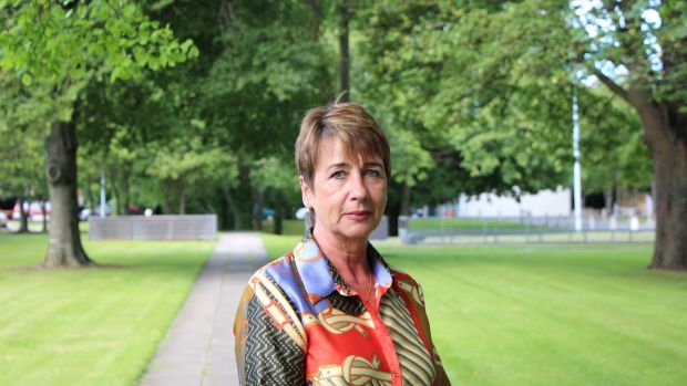 Majella Moynihan pictured in the grounds of RTÉ. Moynihan spoke on RTÉ's Documentary on One about being investigated by gardaí when she became pregnant by a male member of the force. Photograph: RTÉ