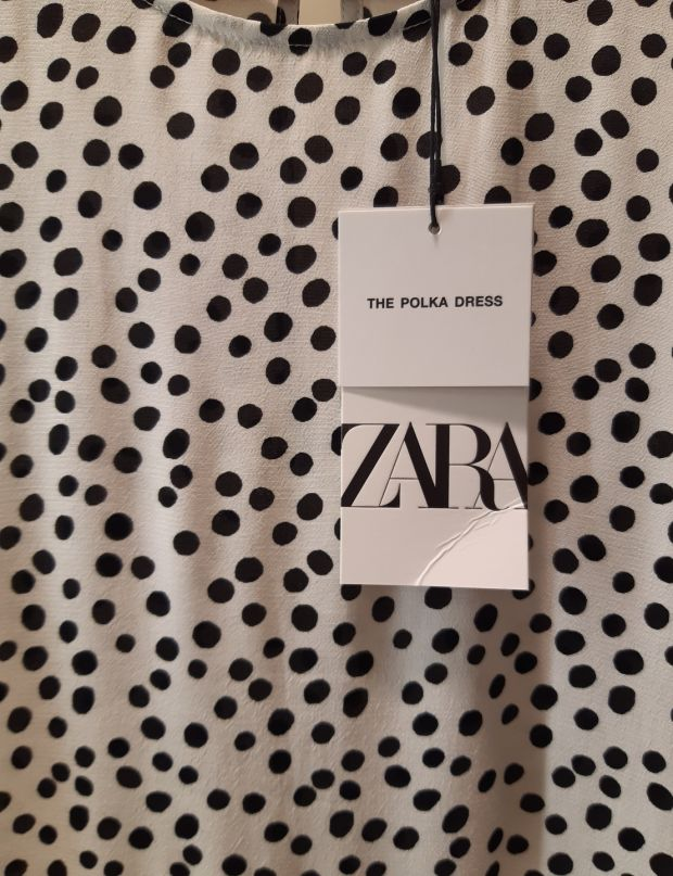 Zara has labelled the dress 'The Polka Dress'
