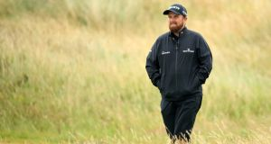 "Shane Lowry during a practice round at Royal Portrush. ""It's one of my favourite golf courses in Ireland. . . I think the scoring is going to be a little trickier than what people think."" Photograph : Andrew Redington/Getty Images"