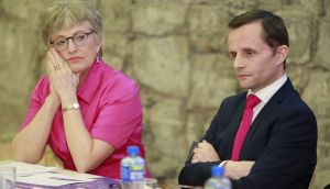 Minister for Children Katherine Zappone and AAI chairman Dr Geoffrey Shannon: legislation would make the authority the custodian of these sensitive adoption records.  Photograph: Nick Bradshaw for The Irish Times