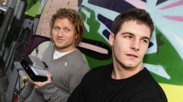 Paddy Jnr's brother, Dean McKillen, with his business partner, Luke Keily, of Bluemedia.