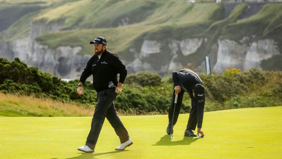 Shane Lowry on the fifth hole during the first round of the British Open at Portrush. Photo: Oisin Keniry/Inpho