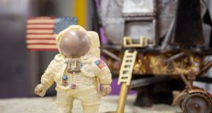 Cadbury's moon landing recreation: one small step for chocolate-makers, one sweet treat for mankind. Photograph: Jacob King/PA