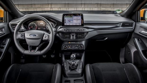 Inside, the Focus has been fitted with Recaro seats in the front and an engaging steering wheel