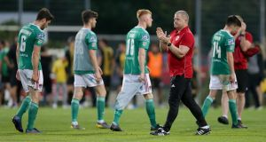 Cork City after their win in Luxembourg, although it's Progres Niederkorn who progress. Photograph: Inpho