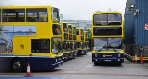 Figures indicate that the number of incidents of anti-social behaviour on board the Dublin Bus fleet, or at its bus stops, has fallen by nearly a fifth in the first quarter of this year, compared with 2018. Photograph: Aidan Crawley