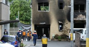 A man suspected of torching an animation studio in western Japan shouted that he had been plagiarised and appeared to have planned the attack. (Photograph: Buddhika Weerasinghe/AFP/Getty Images